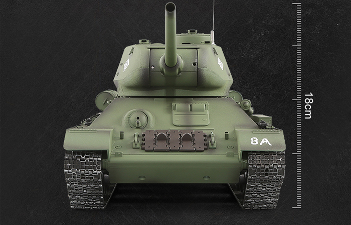 HENG-LONG Toys 3909 RC Scale Model Tank, World War II Soviet Union (Russia) T-34/85 Remote Control Tank.