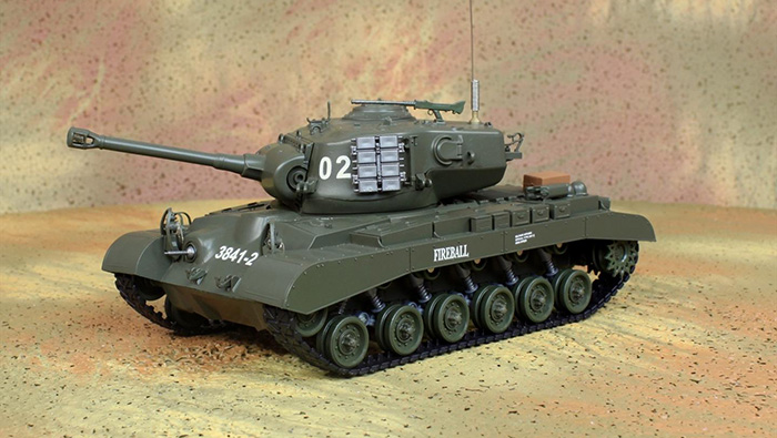 HENG-LONG Toys RC Tank 3841-2, WWII US M26 PERSHING 1/30 Scale Model Remote control Tank, Airsoft  tank, military vehicles, radio control battle tank.