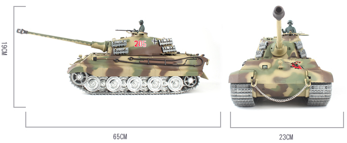 HENG-LONG Toys RC Tank 3888, World War II Germany KING TIGER Heavy Tank 1/16 Scale Model Remote control Tank, Airsoft tank,