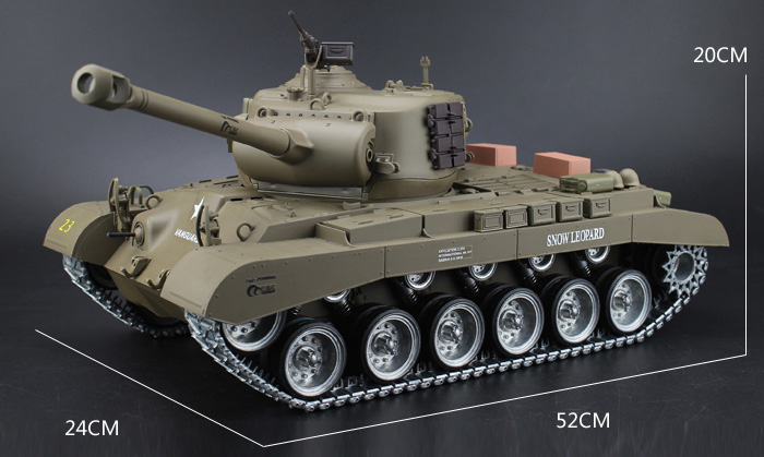 HENG-LONG Toys RC Tank 3838 WWII USA M26 Pershing Snow Leopard 1/16 Scale model Tank, airsoft tank, military vehicles, radio control battle tank.