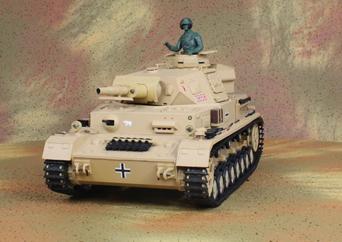 HENG-LONG Toys RC Tank 3858, World War II Germany DAK PZ.KPFW.4 AUSF.F-1 1/16 Scale Model Remote control Tank, Airsoft tank.