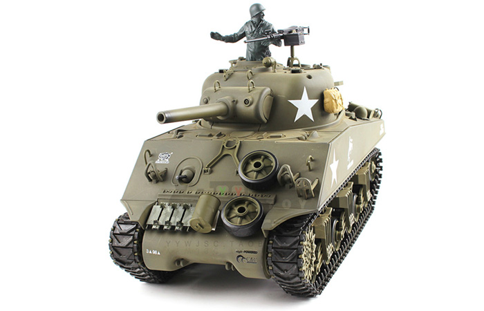 HENG-LONG Toys RC Tank 3898 WWII US Sherman M4A3 1/16 Scale model Tank, airsoft tank, military  vehicles, radio control battle tank.