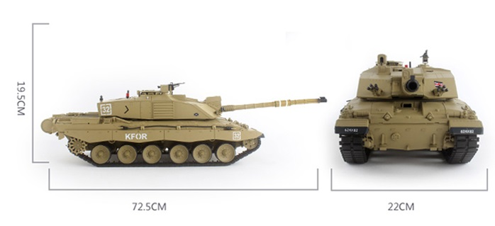 HENG-LONG Toys 3908 RC Scale Model Tank, British Main Battle Tank Challenger 2 Remote Control Tank