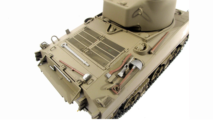 Mato Toys Full Metal RC Tank, Mato 1230-A World War II USA M4A3(75)W Sherman RC Metal Tank.