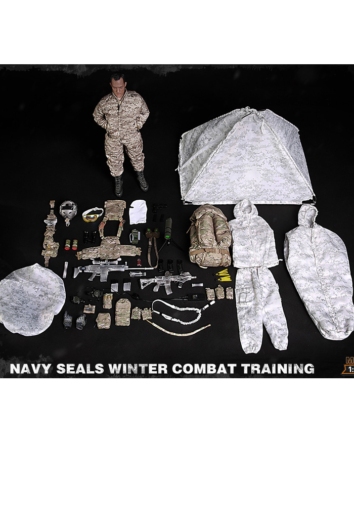 MINI TIMES Toys MT-M011 12 Inch Figure Scale Model US Navy SEALS Winter Combat Training.