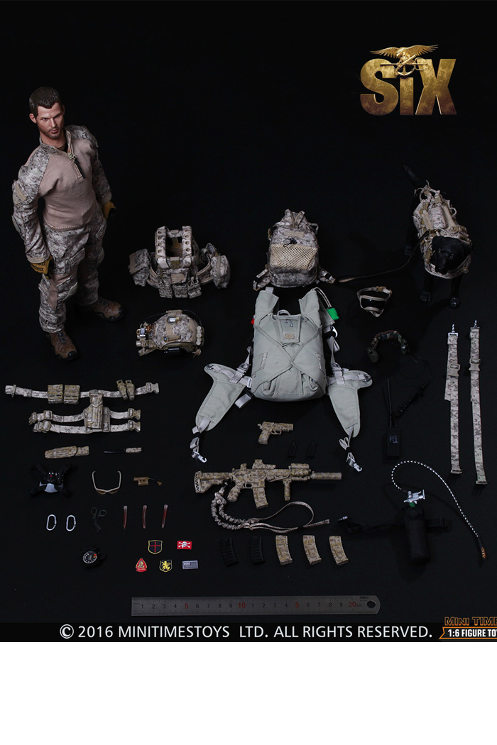 MINI TIMES Toys MT-M006 12 Inch U.S. NAVY SEAL Team Six Devgru With Dog Figure Model Soldier.