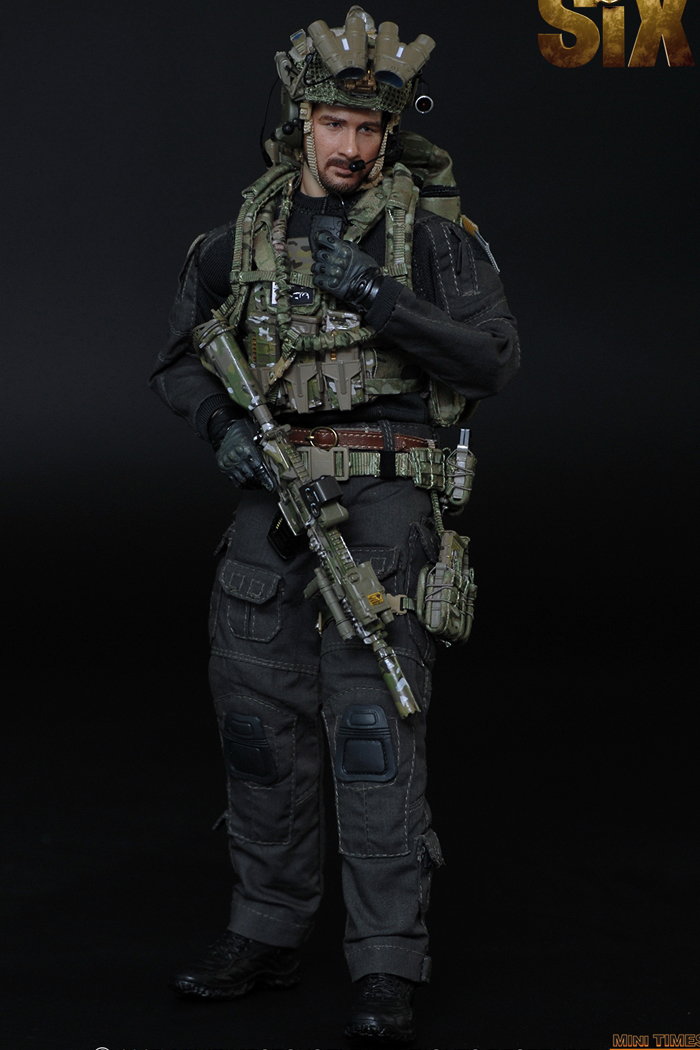 MINI TIMES Toys MT-M008 12 Inch Figure Scale Model US Navy Seal Team Six Soldier Male Action Army Figure Model.