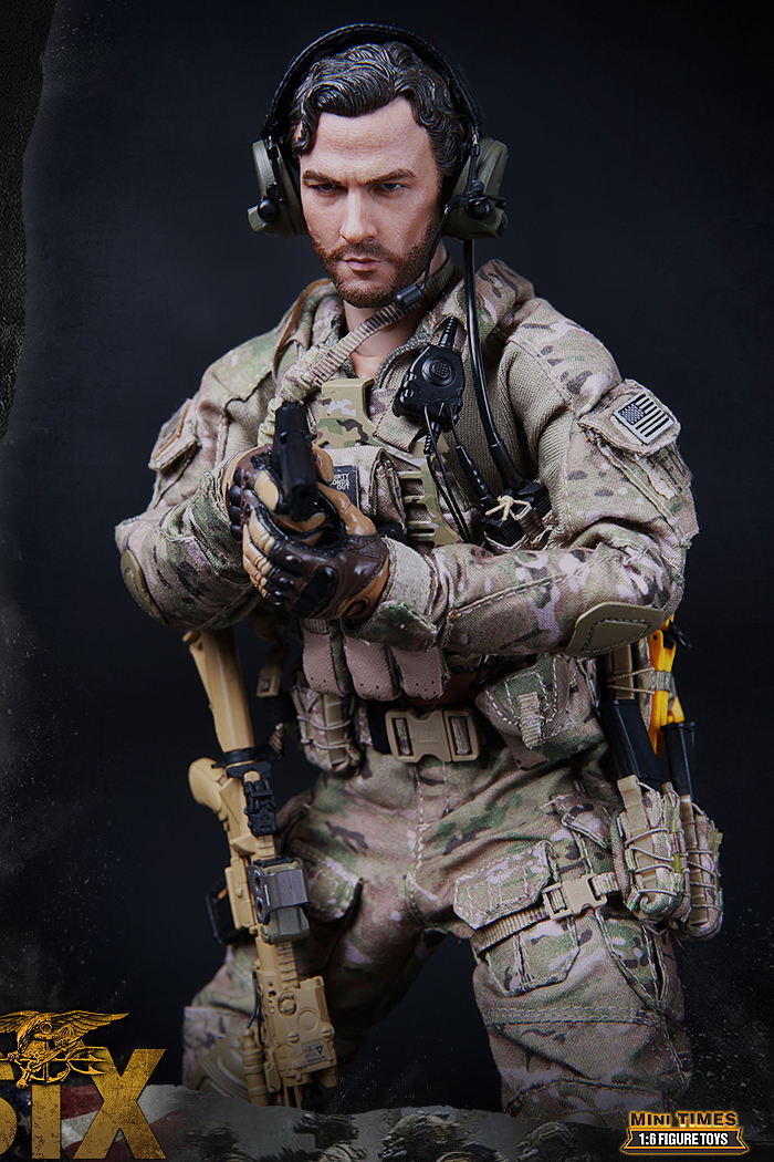 MINI TIMES Toys MT-M010 12 Inch Figure Scale Model US Navy Seal Team Six Soldier Blood Brothers.