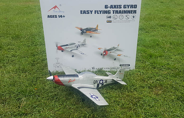 1/36 Scale Model Mini RC Aircraft, North American Aviation P-51 Mustang Fighters Remote Control Airplane.