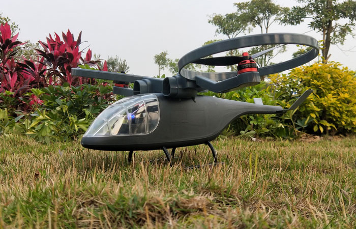 RTF FPV VR Scorpion Vertical Take-Off and Landing Tilt-Rotor Ducted Fan RC Helicopter Scale Model.