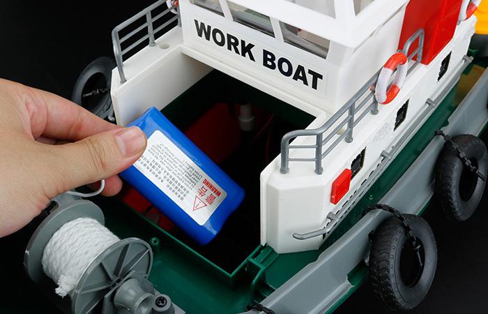 Big Scale 2.4GHz Radio Remote Control Fireboat, RC Work Boat, RC Rescue Boat, RC Ship.