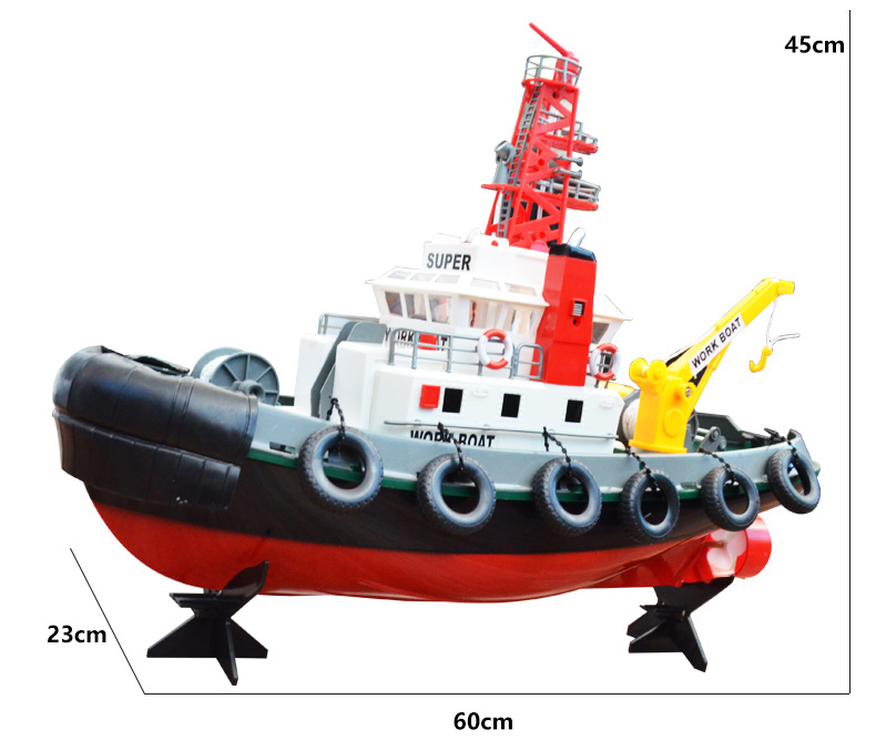 Big Scale 2.4GHz Radio Remote Control Fireboat, RC Work Boat, RC Rescue Boat, RC Ship..