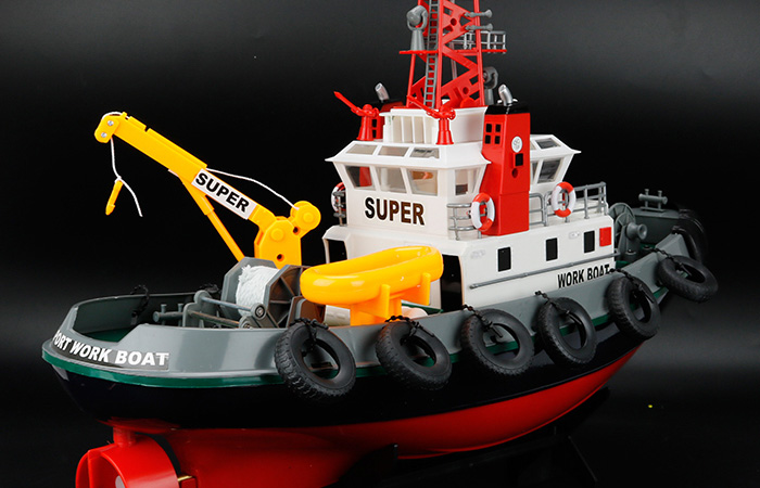 Big Scale 2.4GHz Radio Remote Control Fireboat, RC Work Boat, RC Rescue Boat, RC Ship.