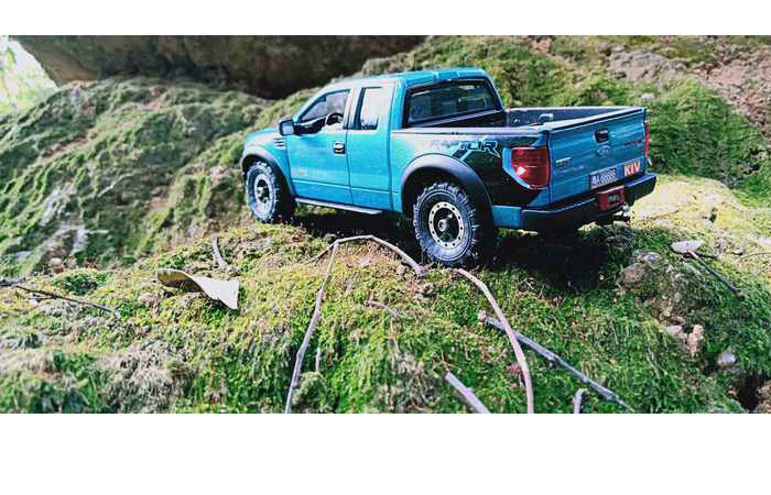Ford F150 Raptor 4X4 RC Crawler Truck, Orlandoo Hunter Scale Model Conversion To RC Model.