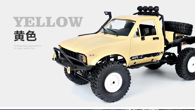 Four-Wheel Drive Rock Cralwer RC Truck, 4X4 Remote Control Climbing Desert Truck.