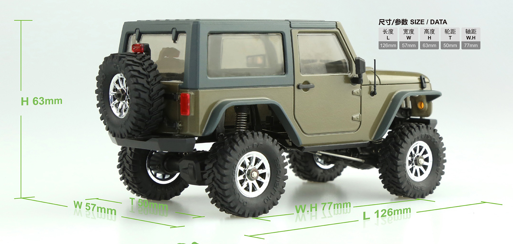 4WD Off-Road Jeep Small Scale Rock Climbing Remote Control Car, Orlandoo-Hunter OH35A01 Kit.