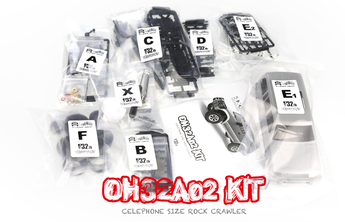 Pajero 4WD Off-Road Small Scale Rock Climbing Remote Control Car, Orlandoo-Hunter OH32A02 Kit.