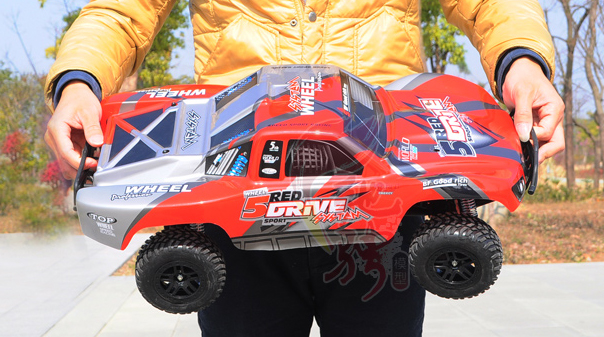 1/10 Scale HQ727, 4X4 RTR 2.4GHz RC Desert Short Truck, 4-Wheel-Drive, Off-Road, Brushless.