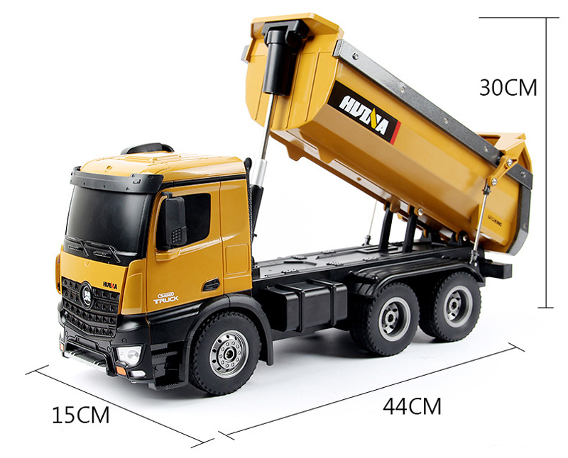 1/14 Scale Model RC Dump Truck Toy, Dump Truck Scale Model, Electric Remote Control Toy Car.
