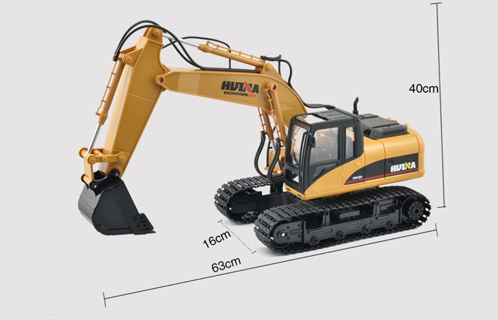 Excavator Toy, Excavator Model, Construction vehicles Toy, 2.4Ghz Radio remote control Electric Toy, simulation RC Excavator