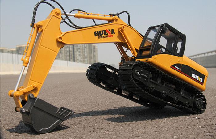 Excavator Toy, Excavator Model, Construction vehicles Toy, 2.4Ghz Radio remote control Electric Toy, simulation RC Excavator