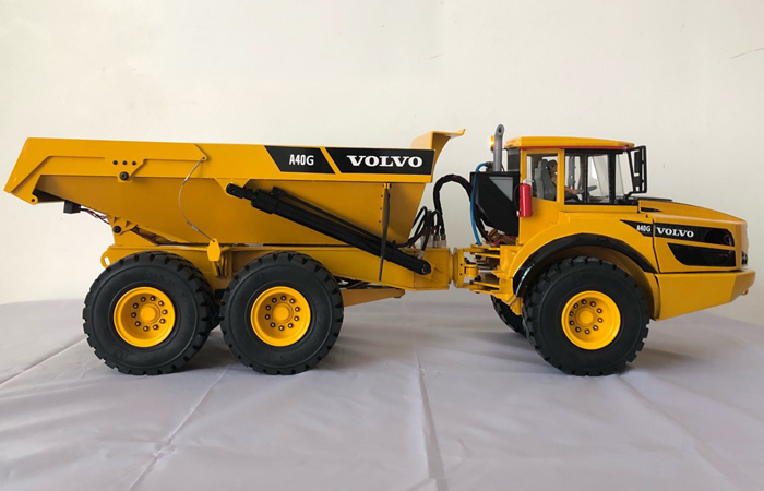 1/14 Scale Model 6WD 6X6 VOLVO A40G RC Dump Truck, Full Metal RC Hydraulic Construction Equipment.