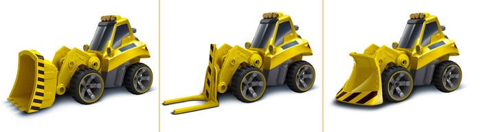 Silverlit Toys 81110 Deluxe Construction Set, RC Builder Truck, RC Bulldozer, RC Crane, RC Trailer Truck.