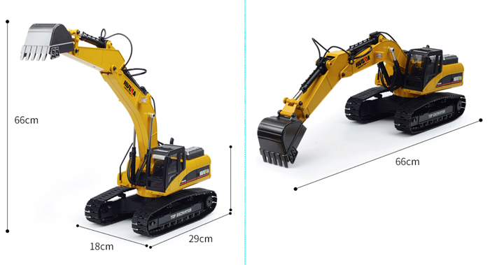 2.4GHz Radio Remote Control Alloy Electric Hydraulic RC CAT 336D L Excavator Scale Model.