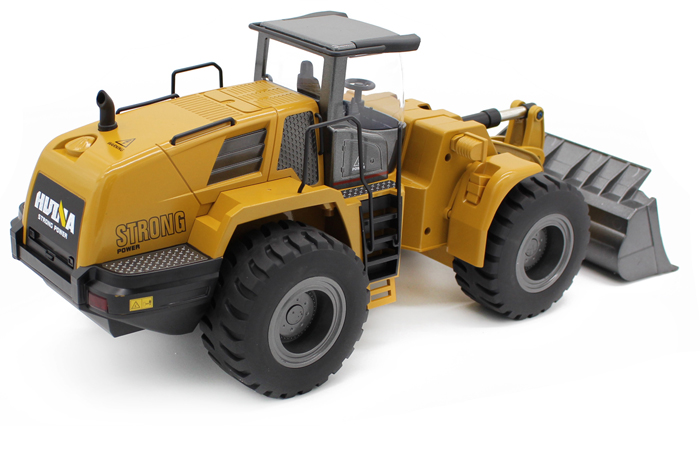 Alloy Electric RC Loader Scale Model, Wheel Loader, Front Loader, Construction Machinery Toy.