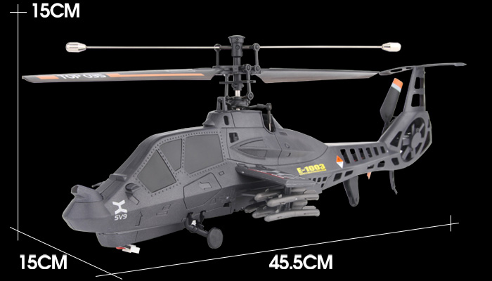 2.4Ghz 4 Channel Single Blade RC Helicopter, Electric Helicopter Toy, Comanche Military Toy.
