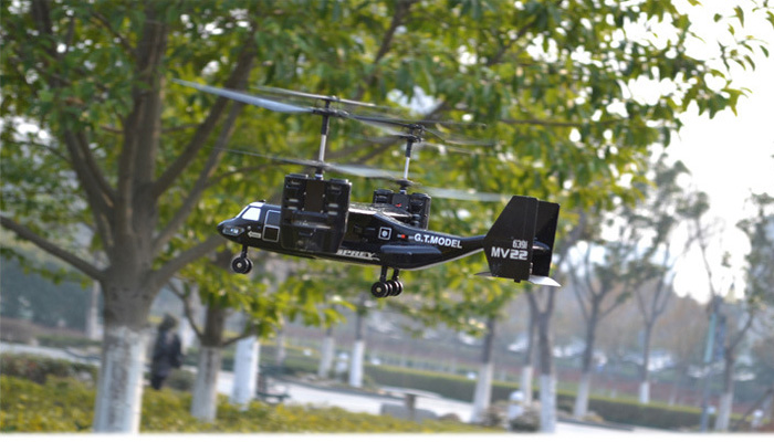 RTF Electric Toy RC Airplane Osprey V22 Beginner Indoor Outdoor RC 4CH Kids Toys Helicopter.