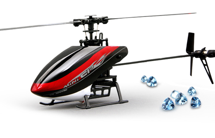 Walkera Mini-CP 6 Channel 3D Aerobatic, Brushless Motor Mini Flybarless RC Helicopter Indoor outdoor.