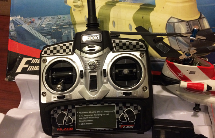 Walkera YS8001 Columbia CH-47D Chinook 2.4GHz Radio Remote Control Micro Twin Coaxial Helicopter.