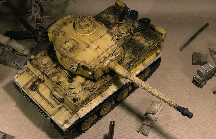 Mato Toys 1220-Y Full Metal Remote Control Tank, 1/16 Scale  Model Alloy Tiger I RC Tank.