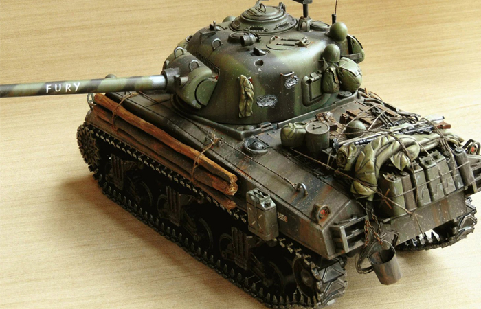 HENG-LONG Remote Control Scale Model Tank 3898 US M4A3 Sherman FURY RC Tank.