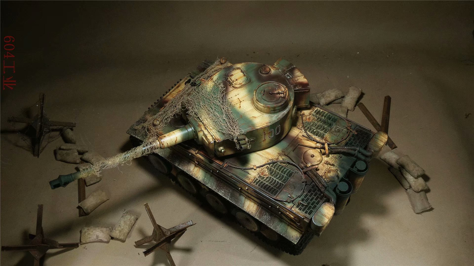Mato Toys 1220 Tiger 1 Full Metal Remote Control Tank, 1/16 Scale  Model Alloy Tiger I RC Tank.