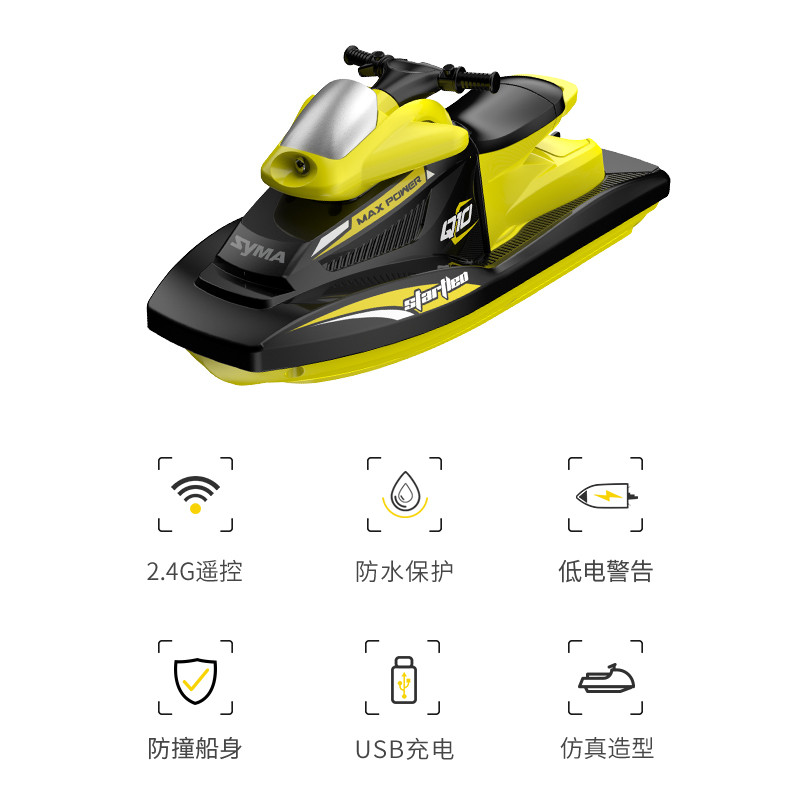 RC Motorboat, Remote control boat, Water toys, High-speed boat toys, Gift for Boys, Girls, Beginners Adults, Christmas present..