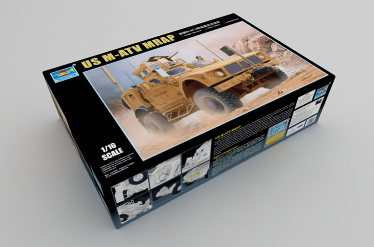 1/16 Scale Model Kit, US M-ATV MRAP, TRUMPETER 00930 Plastic Model Kit.