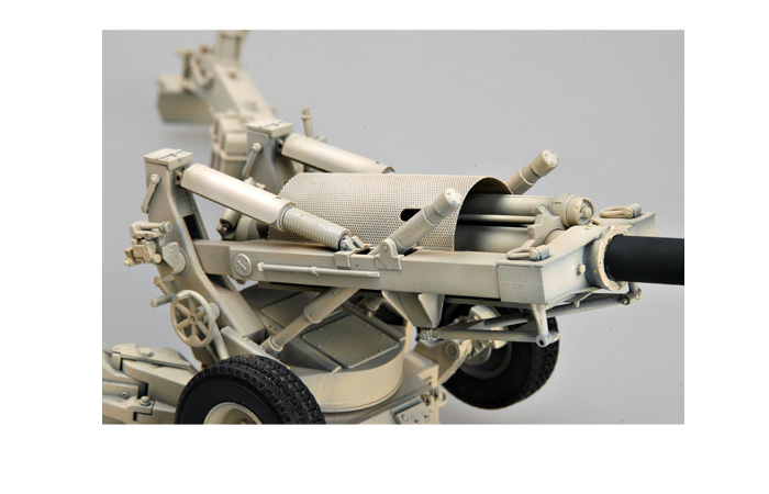 TRUMPETER Plastic Model Kit 02319, 1/35 Scale USA M198 155mm Medium Towed Howitzer (Late Version) Plastic Model Kit Scale Model, Static Gun Model