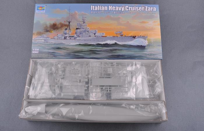 1/350 Scale Model Kit, Italian Heavy Cruiser Zara, Trumpeter 05347 Plastic Model Kit.