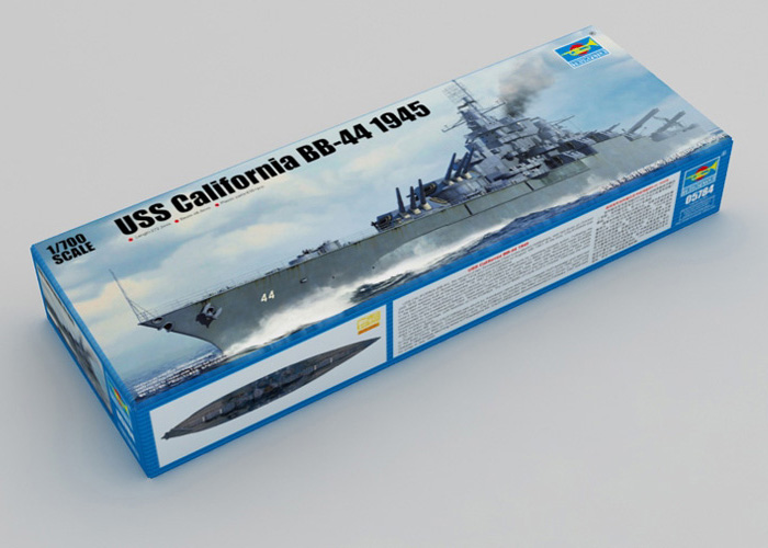 Trumpeter model, Trumpeter 05784 Plastic model kits, 1/700 USS Battleship California BB-44 1945 Static Kit, WWII Warship Models