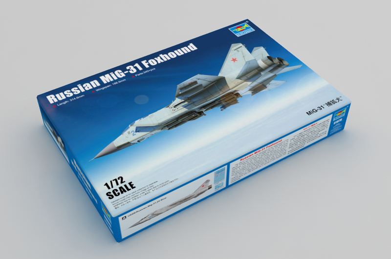 1/72 Scale Model Kit, Russian MiG-31 Foxhound, Trumpeter 01679 Plastic Model Kit.