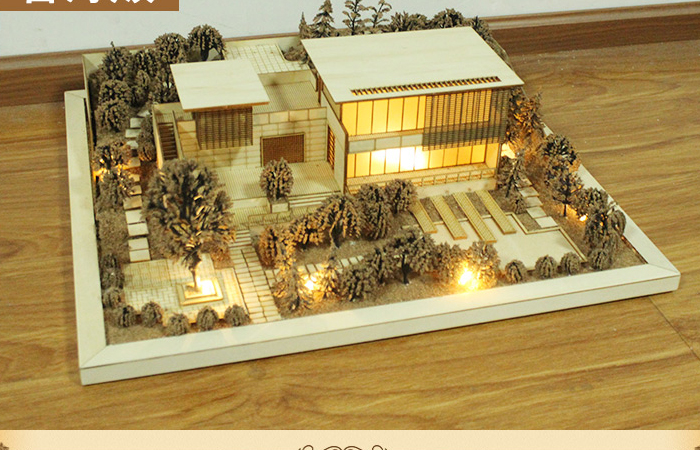 (DIY) Do It Yourself Building (Villa, House) Scale Model Kit, Sand Table Model.