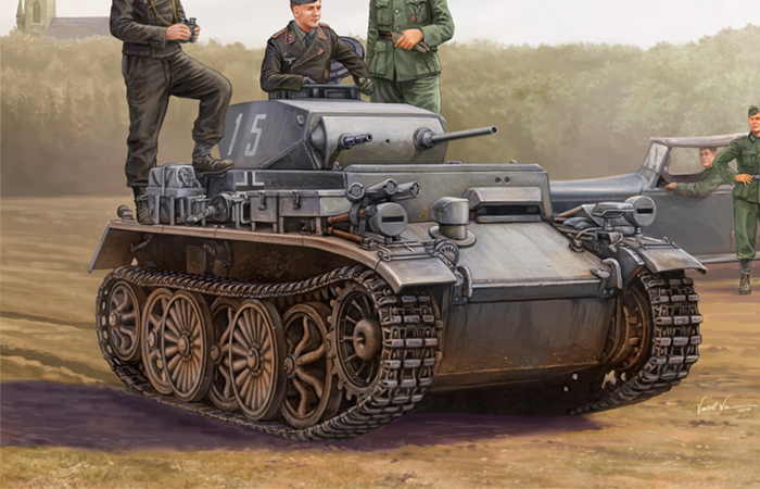 Hobby Boss 82431 Plastic Model kits, 1/35 Scale WWII Germany PzKpfw I Ausf C (VK 601) Reconnaissance Tank Scale Model, Military Tank Model