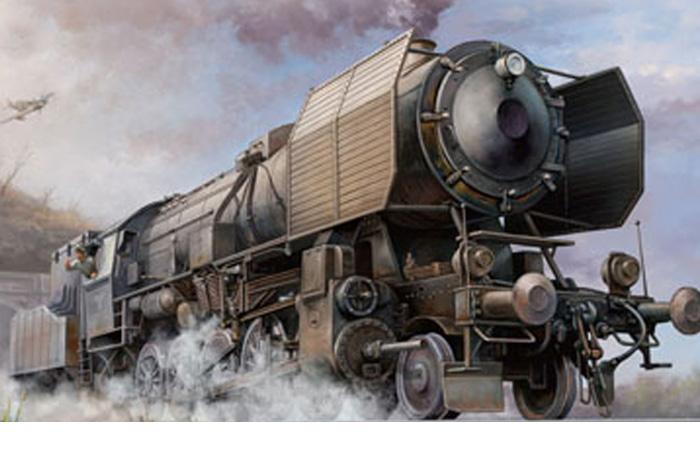Hobby Boss 82901 Plastic Model kits, 1/72 Scale WWII Germany German Kriegslokomotive BR-52 Steam locomotive Scale Model, Military Model
