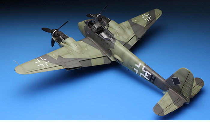 Meng-Model LS-003 1/48 Scale Plastic Model Kit Messerschmitt Me410A-1 High Speed Bomber Scale Model, Static Aircraft Model