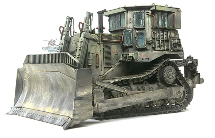 Meng-Model SS-002 1/35 Scale Plastic Model Kit Israel D9R Armored Bulldozer Scale Model, Static Armor Model.
