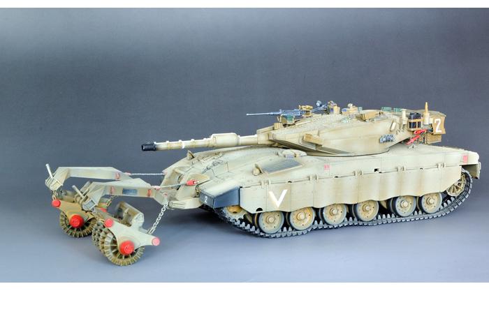 Meng-Model TS-005 1/35 Scale Plastic Model Kit ISRAEL Main Battle Tank MERKAVA Mk.3 Equipped With NOCHRI DALET Mine Roller System.