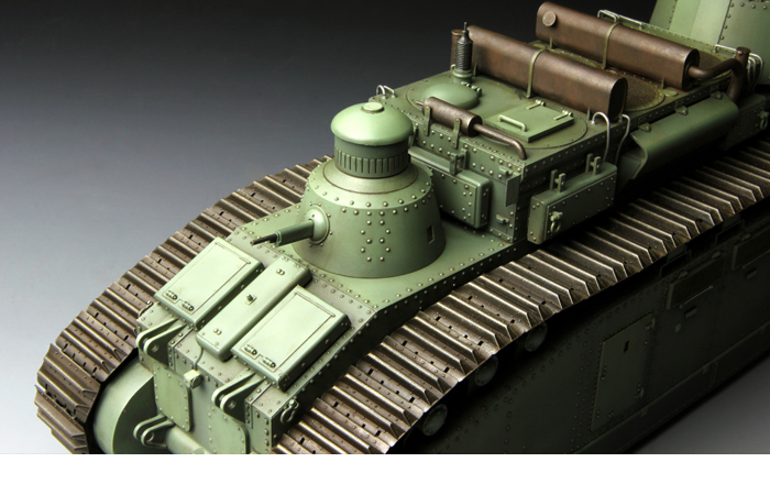 Meng-Model TS-009 1/35 Scale Plastic Model Kit World War I French Super-Heavy Tank CHAR 2C Scale Model, Static Tank Model.