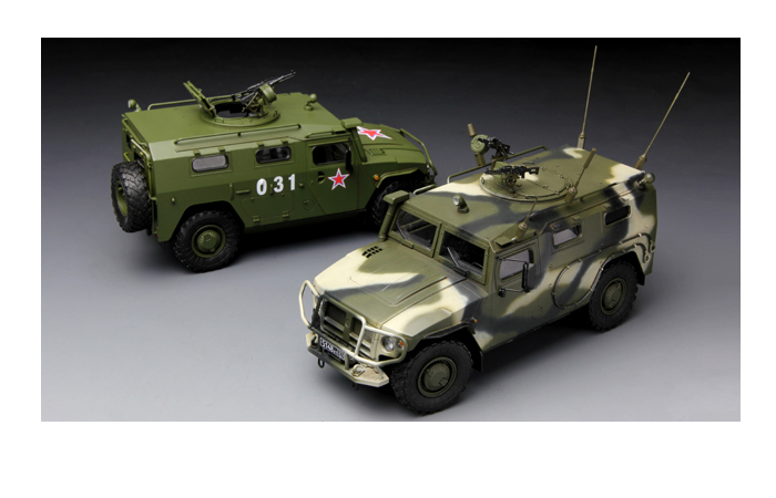 """Meng-Model VS-003 1/35 Scale Plastic Model Kit RUSSIAN ARMORED HIGH-MOBILITY VEHICLE GAZ-233014 STS """"TIGER"""" Scale Model, Static Armor Model"""